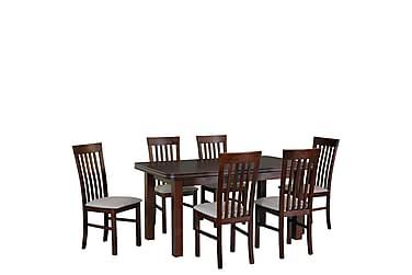 Ruokailuryhmä Matley V 6 Holben II tuolia