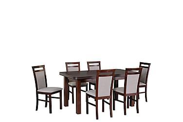 Ruokailuryhmä Matley V 6 Holben V tuolia