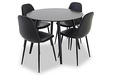 Ruokailuryhmä Trym 100 cm Pyöreä 4 Tommy tuolia