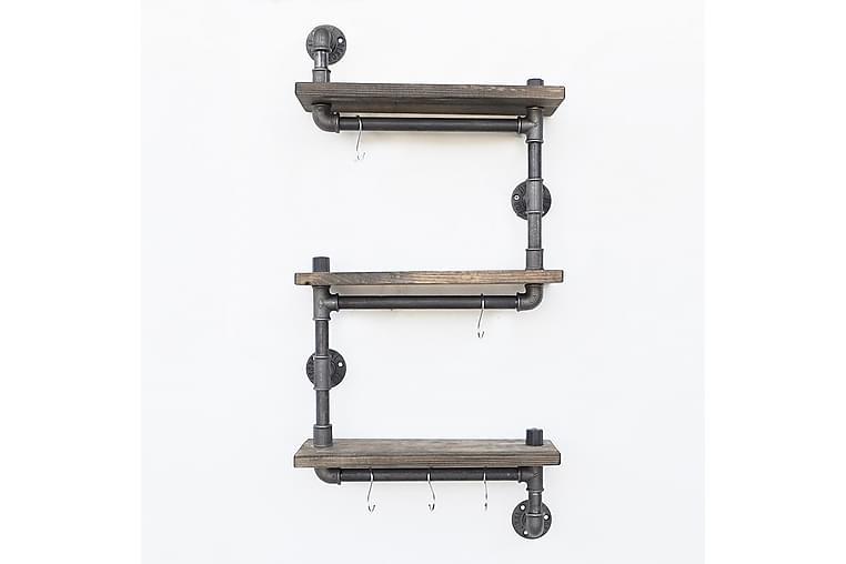 Paperiteline Valid hyllyllä 40 cm - Ruskea/Musta - Huonekalut - Säilytys - Hyllyt