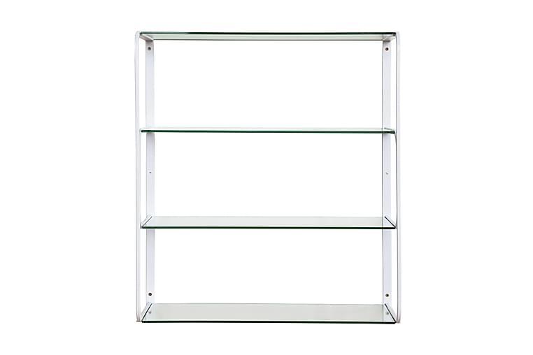 Seinähylly Carola 59 cm - Metalli/lasi/Valkoinen - Huonekalut - Säilytys - Hyllyt