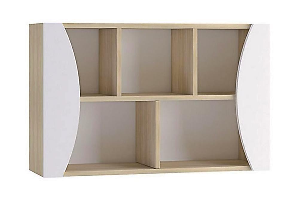Seinähylly Grayham 100 cm - Valkoinen/Puu - Huonekalut - Säilytys - Hyllyt