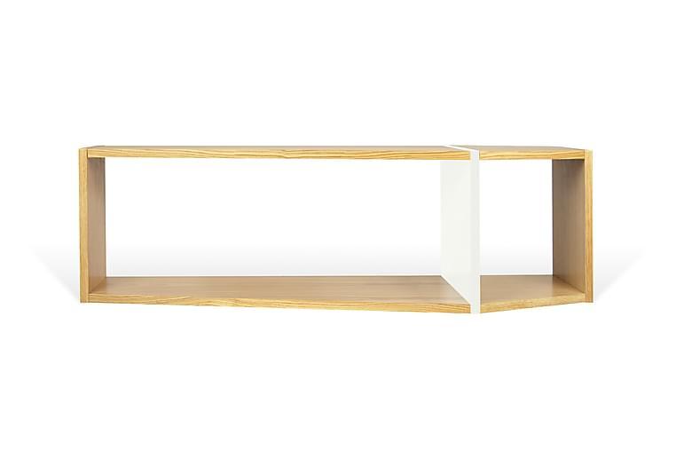 Seinähylly One 120 cm Tammi/valkoinen - Temahome - Huonekalut - Säilytys - Hyllyt