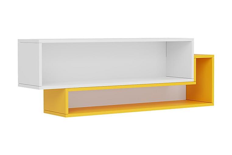 Seinähylly Ridino 115 cm - Valkoinen/Keltainen - Huonekalut - Säilytys - Hyllyt