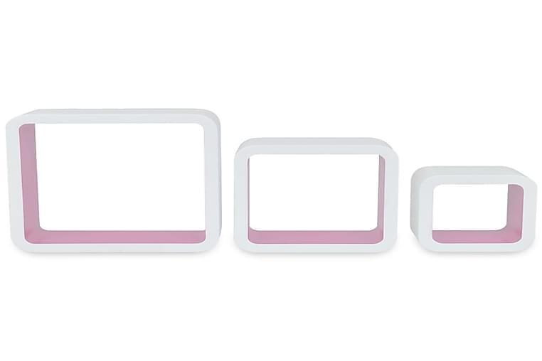 Seinähyllyt 6 kpl kuutio valkoinen ja vaaleanpunainen - Pinkki - Huonekalut - Säilytys - Hyllyt