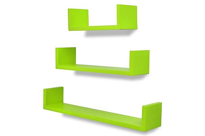 Seinähyllyt 6 kpl vihreä - Vihreä - Huonekalut - Säilytys - Hyllyt