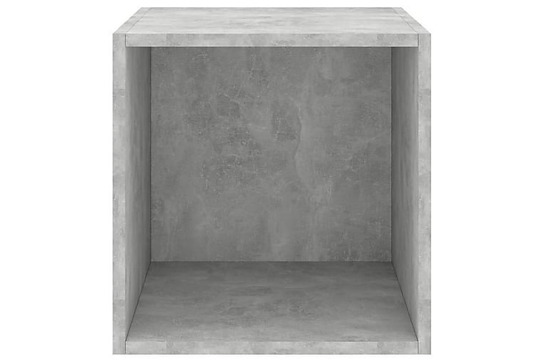 Seinäkaapit 2 kpl betoninharmaa 37x37x37 cm lastulevy - Huonekalut - Säilytys - Säilytyskaapit