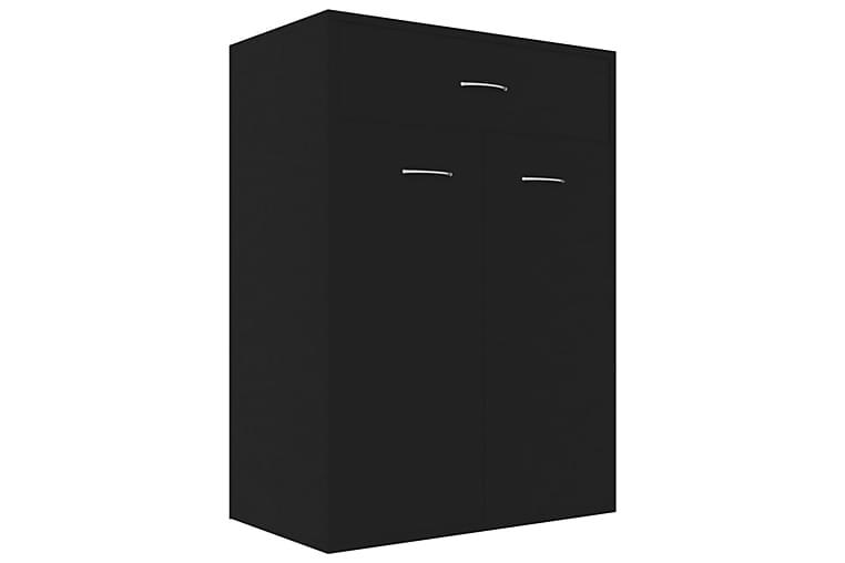 Kenkäkaappi musta 60x35x84 cm lastulevy - Musta - Huonekalut - Säilytys - Kenkäsäilytys
