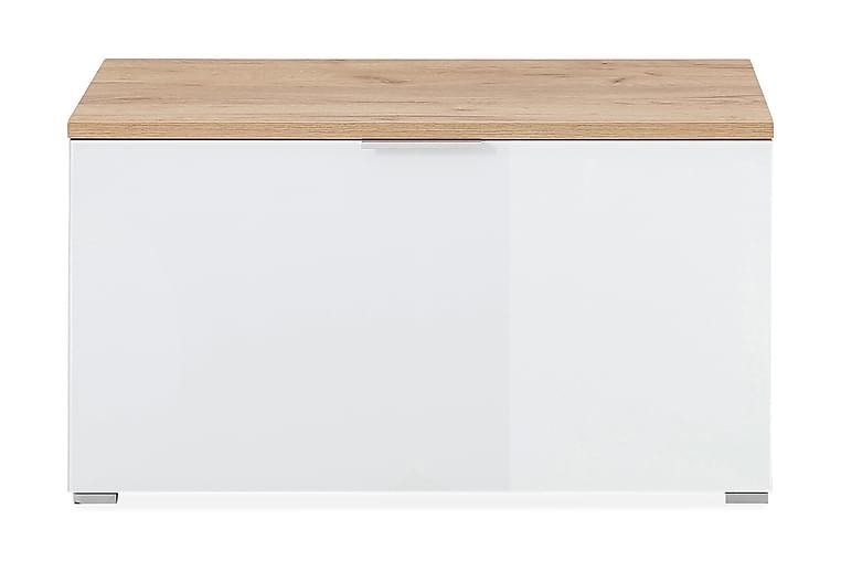 Kenkäpenkki Telde 89x49 cm - Beige/Valkoinen - Huonekalut - Säilytys - Kenkäsäilytys