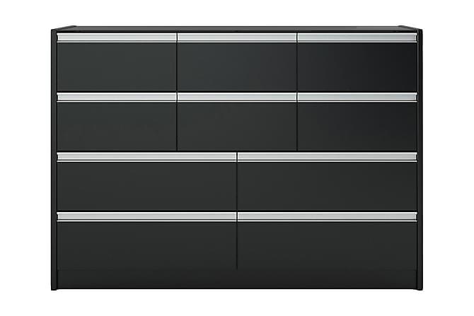 Lipasto Clarice 122 cm - Musta - Huonekalut - Säilytys - Lipastot