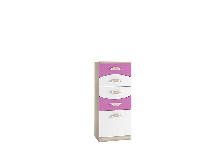 Lipasto Grayham 50 cm Korkea - Valkoinen/roosa/Puu - Huonekalut - Säilytys - Lipastot