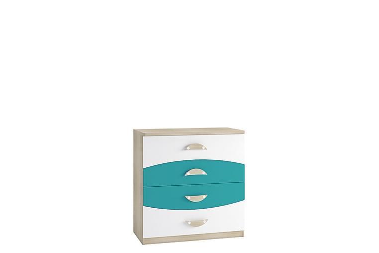 Lipasto Grayham 80 cm - Valkoinen/Sininen/Puu - Huonekalut - Säilytys - Lipastot