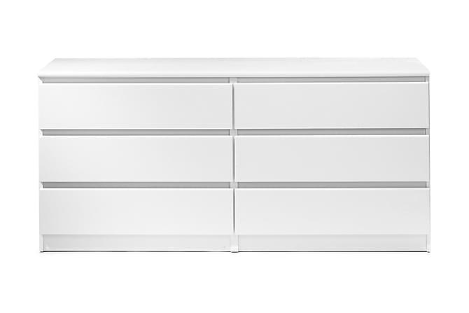 Lipasto Lerna 154 cm - Valkoinen - Huonekalut - Säilytys - Lipastot