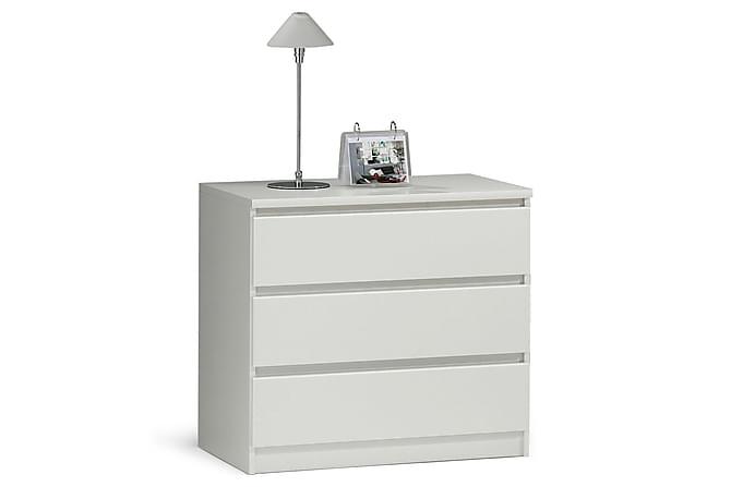 Lipasto Lerna 77 cm 3 laatikkoa - Valkoinen - Huonekalut - Säilytys - Lipastot