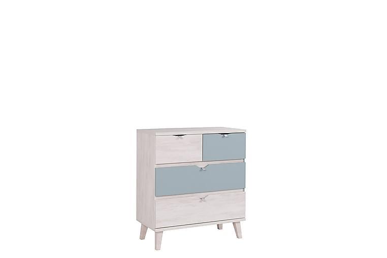 Lipasto Lyseme 81 cm - Valkoinen/Sininen - Huonekalut - Säilytys - Lipastot