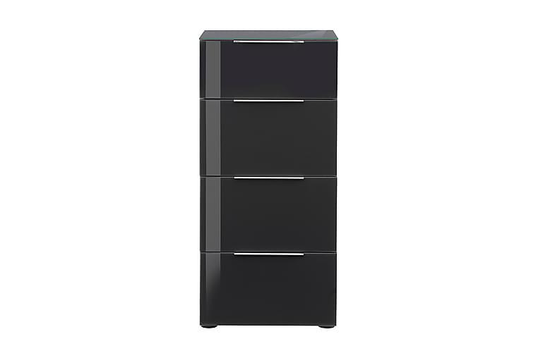 Lipasto Monreal 45,1x98,7 cm 4 laatikkoa - Vaaleanruskea/Tummanharm Lasi - Huonekalut - Säilytys - Lipastot