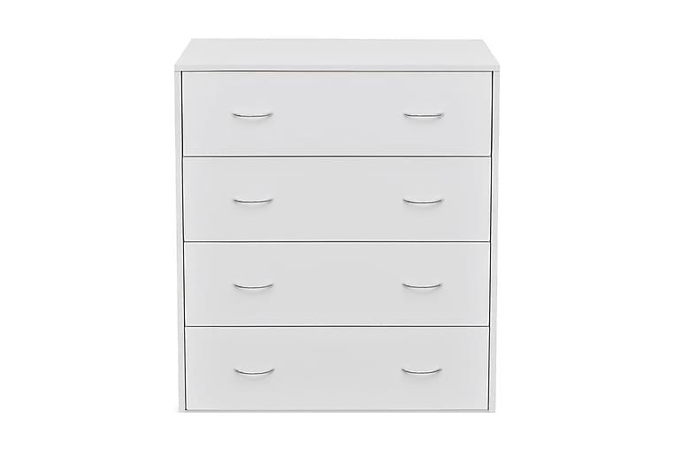 Senkki 4 vetolaatikolla 60 x 30,5 x 71 cm Valkoinen - Valkoinen - Huonekalut - Säilytys - Lipastot