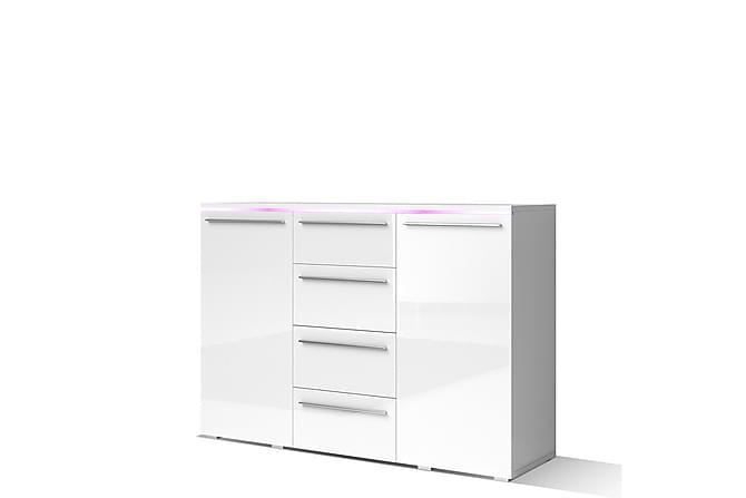 Vanwingo Lipasto 132x40x92 cm - Valkoinen - Huonekalut - Säilytys - Lipastot