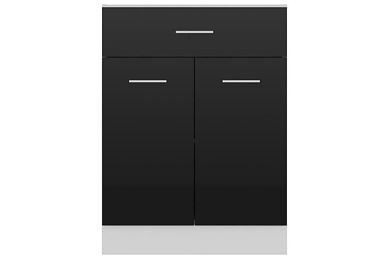 Alalipastokaappi korkeakiilto musta 60x46x81,5 cm lastulevy - Musta - Huonekalut - Säilytys - Säilytyskaapit