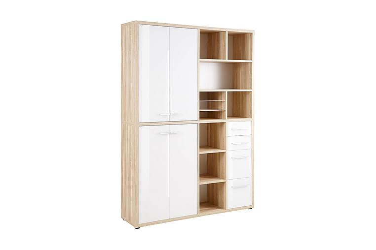 Hylly Heiden 155,7 cm - Ruskea/Valkoinen - Huonekalut - Säilytys - Säilytyskaapit