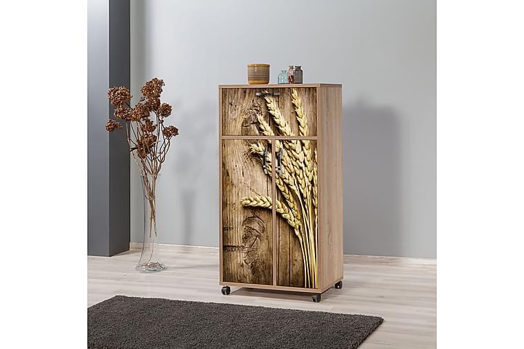 Keittiökaappi Kicker 116 cm - Puu/Luonnonväri - Huonekalut - Säilytys - Säilytyskaapit