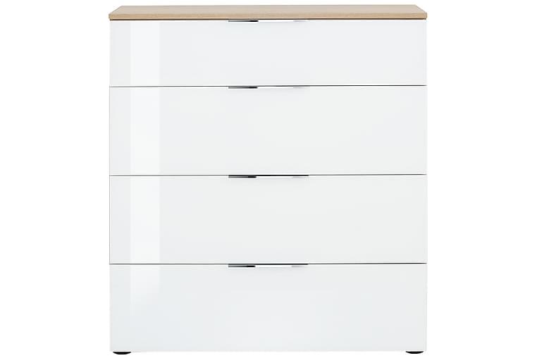 Lipasto Monreal 90,2x99,8 cm 4 laatikkoa - Ruskea/Valkoinen Lasi - Huonekalut - Säilytys - Säilytyskaapit