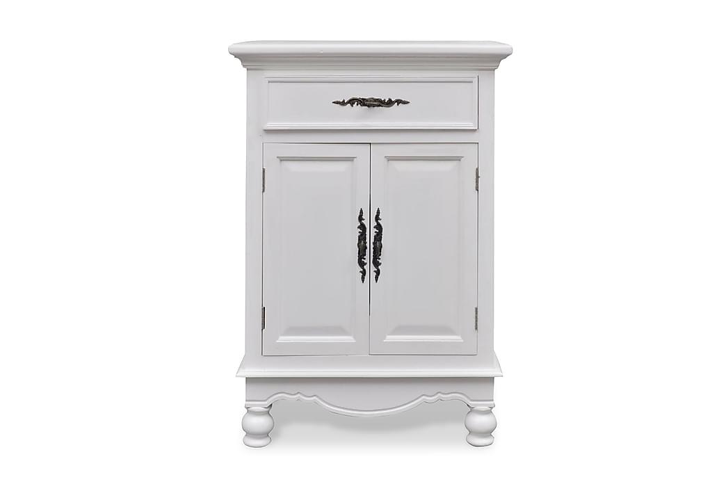 Puinen kaappi 2 ovea 1 vetolaatikko Valkoinen - Valkoinen - Huonekalut - Säilytys - Säilytyskaapit
