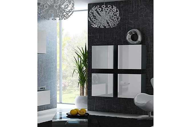Seinäkaappi Vigo 100x30x100 cm - Musta/Valkoinen - Huonekalut - Säilytys - Säilytyskaapit