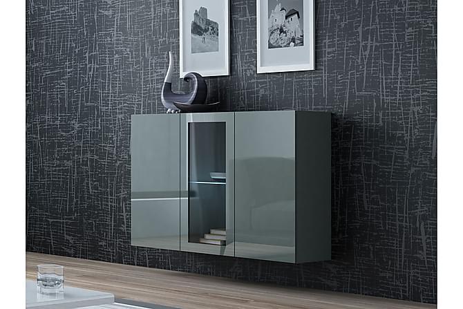 Seinäkaappi Vigo 120x38x90 cm - Harmaa | Valkoinen - Huonekalut - Säilytys - Säilytyskaapit
