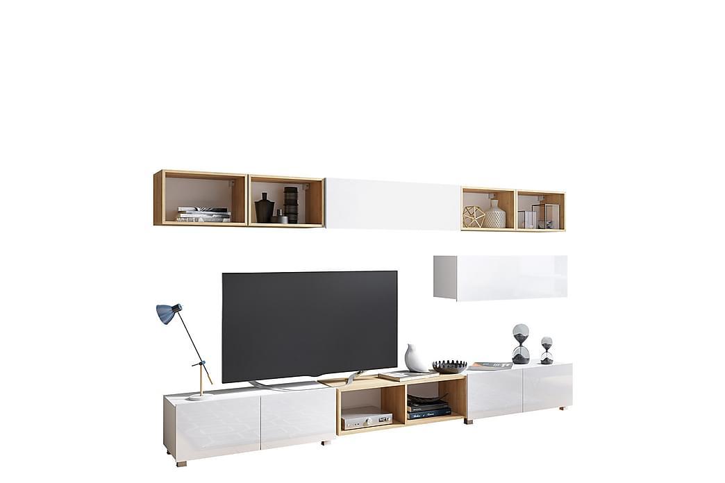 Seinäyksikkö Syrenna - Valkoinen - Huonekalut - Säilytys - Säilytyskaapit