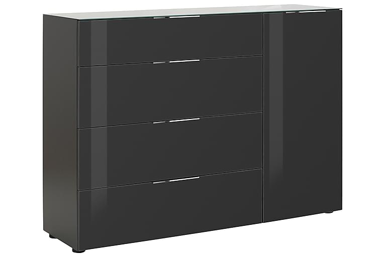 Senkki Monreal 135,3x98,7 cm - Tummanharmaa/Tummanharmaa Lasi - Huonekalut - Säilytys - Säilytyskaapit