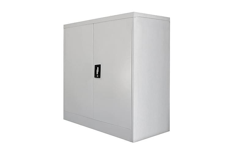 Toimistokaappi 2 ovella 90 cm harmaa metalli - Harmaa - Huonekalut - Säilytys - Säilytyskaapit