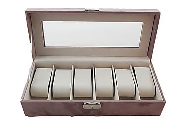 Kellorasia Sametti 30,5x13x7,5 cm Vaaleanpunainen