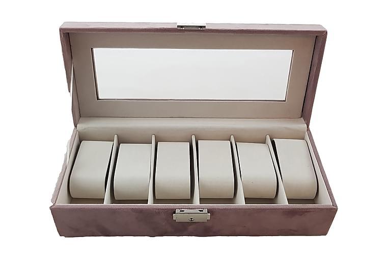 Kellorasia Sametti 30,5x13x7,5 cm Vaaleanpunainen - Huonekalut - Säilytys - Säilytyslaatikot & korit
