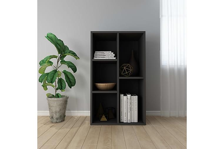 Kirjahylly/senkki musta 45x25x80 cm lastulevy - Musta - Huonekalut - Säilytys - Senkit