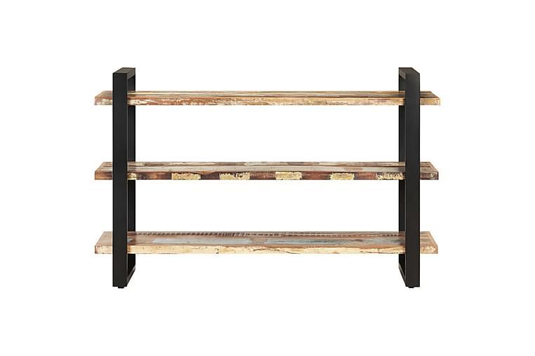 Senkki 3 hyllyllä 120x40x75 cm kierrätetty täyspuu - Monivärinen - Huonekalut - Säilytys - Senkit