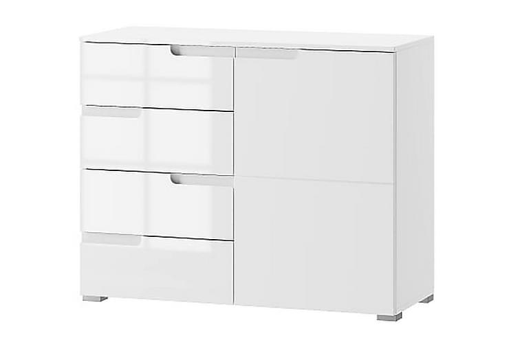 Senkki Aydan 100 cm Ovi 4 Laatikkoa - Valkoinen/Valk Korkeakiilto - Huonekalut - Säilytys - Senkit