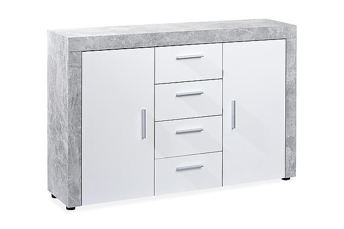 Senkki Barossa 134 cm - Harmaa/Valkoinen - Huonekalut - Säilytys - Senkit