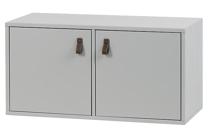 Senkki Braelyn 81x41 cm 2 ovea - Harmaa Mänty - Huonekalut - Säilytys - Senkit