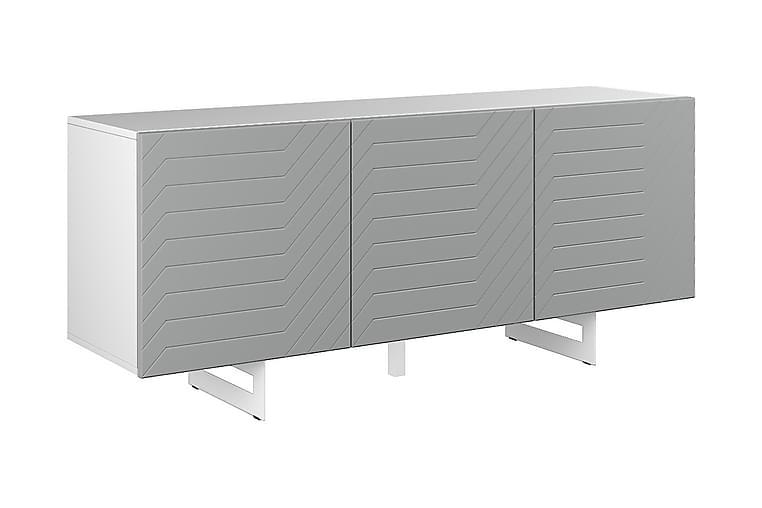Senkki Itaca 3 ovea 165x45 cm - Valkoinen/Harmaa - Huonekalut - Säilytys - Senkit
