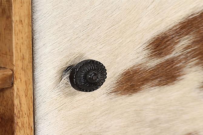 Senkki kiinteä seesampuu 100x30x130 cm - Ruskea - Huonekalut - Säilytys - Senkit