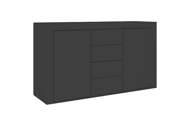 Senkki korkeakiilto musta 120x36x69 cm lastulevy - Huonekalut - Säilytys - Senkit