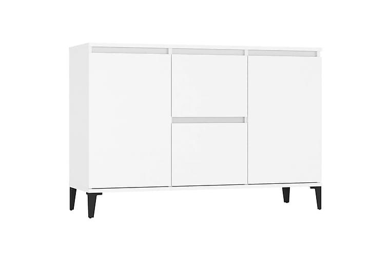 Senkki valkoinen 104x35x70 cm lastulevy - Valkoinen - Huonekalut - Säilytys - Senkit