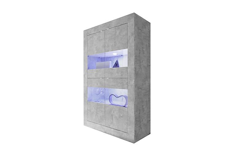Vitriinikaappi Basic 102 cm - Betoni - Huonekalut - Säilytys - Senkit