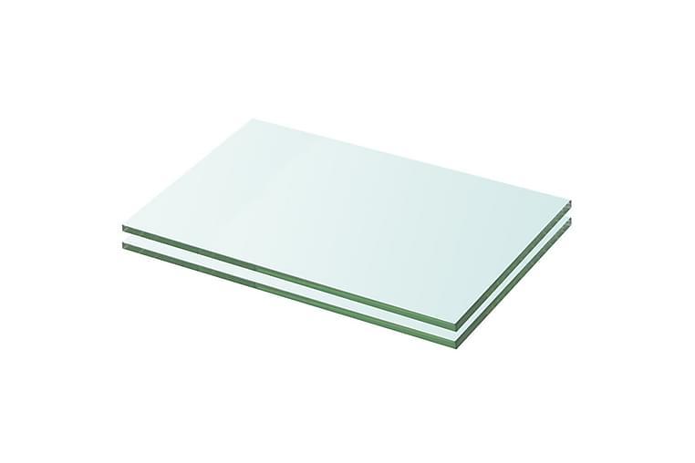 Hyllyt 2 kpl kirkas lasi 20x25 cm - Huonekalut - Säilytys - Vaatekaapit