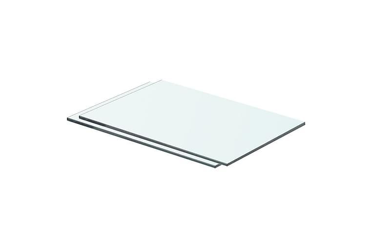Hyllyt 2 kpl kirkas lasi 40x20 cm - Huonekalut - Säilytys - Vaatekaapit