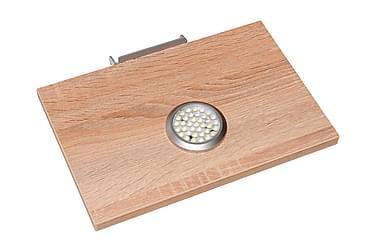 Hyllytaso LED-valaisin Sorriso Öljytty tammi