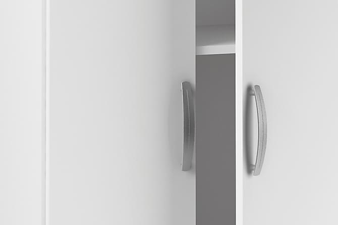 Kaappi Lojo 68 cm 2 ovea - Mattavalkoinen - Huonekalut - Säilytys - Vaatekaapit