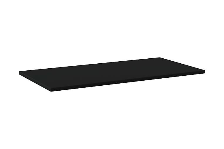 Kirjahyllytasot 4 kpl musta 80x40x1,5 cm lastulevy - Musta - Huonekalut - Säilytys - Vaatekaapit