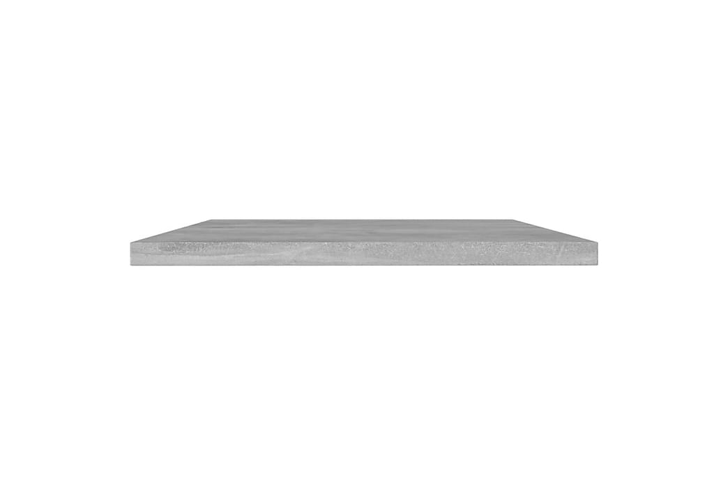 Kirjahyllytasot 8 kpl betoninharmaa 100x30x1,5 cm lastulevy - Harmaa - Huonekalut - Säilytys - Vaatekaapit